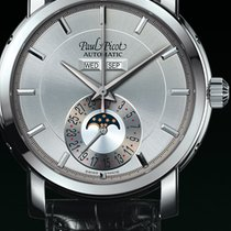 Paul Picot FIRSHIRE  RONDE  moon phase silver strap skin black