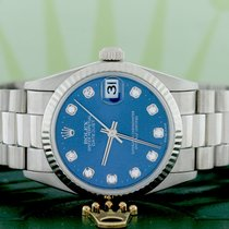 Rolex President Midsize White Gold Original Diamond Dial...