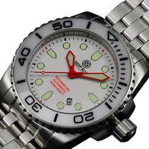 Deep Blue Sea Ram 500 Auto Diving Watch Wr 500m Wht/blk Bezel...