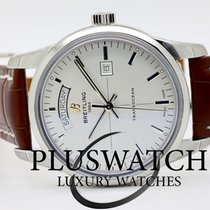 Breitling TransOcean Day & Date Silver Dial 43mm T
