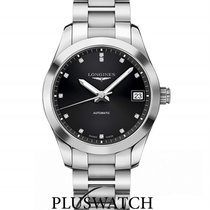 Longines Conquest Classic Automatic Black Dial Diamonds 34mm
