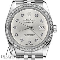 Rolex Womens Rolex 26mm Datejust Silver Color Dial With 10...