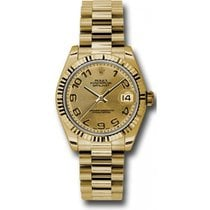 Rolex President 178278 Midsize 18K Yellow Gold New Style Heavy...