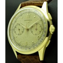 Longines | Vintage Chronograph 18 Kt yellow gold, mov. CH30