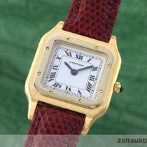 Cartier Lady 18k Gold Santos Dumont Karree Damenuhr Handaufzug