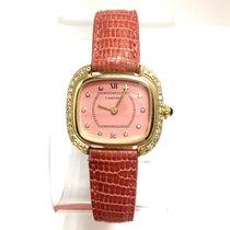 Cartier 18k Yellow Gold Ladies Watch W/ Diamonds &...