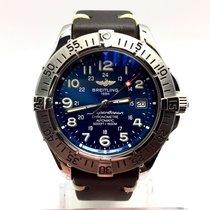Breitling Super Ocean Steel Men's Watch With Brown Soft...