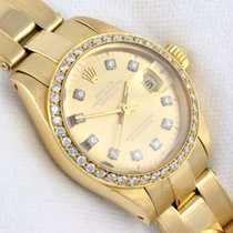 ロレックス (Rolex) Lady Rolex DatejustDiamonds 18k gold ref 6917