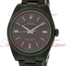 Rolex Oyster Perpetual No-Date 39mm, Red Grape Dial, Domed...