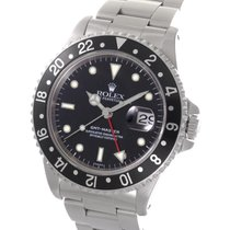ロレックス (Rolex) GMT Master Black Bezel Stainless Steel 40MM...