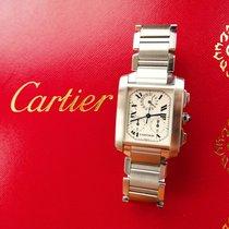 Cartier Tank Francaise Chronoflex Eleganter Stahl Luxus...