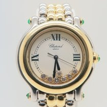 Chopard Happy Sport 18k Gold Steel 7 Diamonds (Box&Papers)