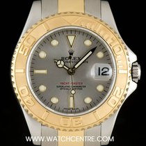 Rolex Steel & Gold Rhodium Dial Yacht-Master Mid-Size 168623