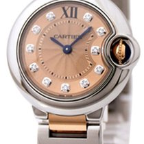 Cartier WE902052 Ballon Bleu 11 Diamonds Women 18KT Pink Gold...