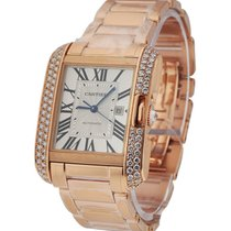 Cartier WT100003 Tank Anglaise Medium - Diamond Bezel - Rose...