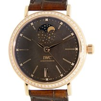 萬國 (IWC) Portofino 18 K Rose Gold With Diamonds Gray Automatic...