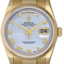 Rolex President Day-Date Men's 18k Gold Watch 118208...