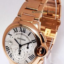 Cartier Ballon Bleu 18k Rose Gold XL Chronograph Watch &...