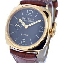 Panerai PAM00197 Radiomir 8 Day 45mm in Rose Gold - on Brown...