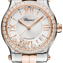 Chopard Happy Sport Silver Guilloche Dial Ladies 278559-6004