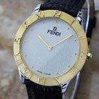 Fendi Swiss Made Men's Luxury Dress Watch C2000 Gold...
