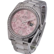 Rolex Unworn 116244 36mm Datejust with Diamond Bezel - Oyster...