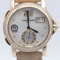 Ulysse Nardin Ladies Dual Time In 18k Rose Gold 246-22 Diamond...