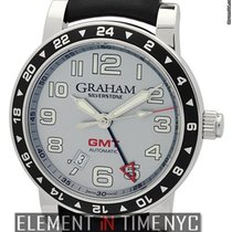 Graham Silverstone Time Zone Stainless Steel Silver Dial