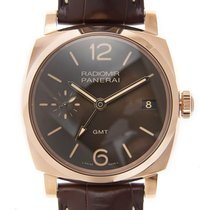 Panerai New  Radiomir 18k Rose Gold Brown Automatic PAM00570