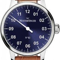 Meistersinger No 02 AM6608N Elegante Herrenuhr Zeitloses Design