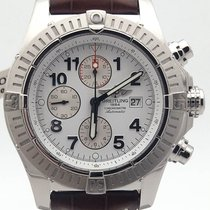 Breitling Super Avenger Chronograph A13370 On Brown Alligator...