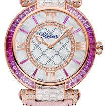 Chopard Imperiale 18K Rose Gold, Pink Sapphires & Diamonds...