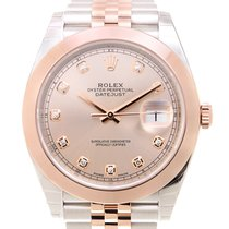 Rolex Datejust 18k Rose Gold And Steel Pink Automatic 126301GPK_J