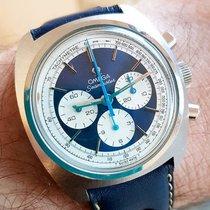 Omega Seamaster chronograph stainless steel model 145.029 blue