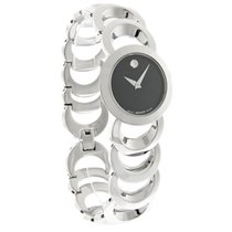Movado Rondiro Black Dial Stainless Steel Watch Ladies 0605499