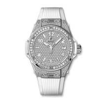 Hublot Big Bang One Click Steel White Full Pave 39mm Ref...