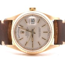 Rolex Mens 18K Day-Date President - Champagne Dial - Horween...
