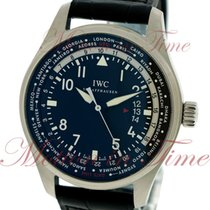 IWC Pilot's Worldtimer, Black Dial - Stainless Steel on Strap