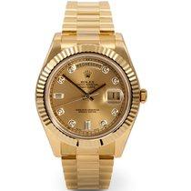 Rolex DAY-DATE II 41mm 18K Yellow Gold Diamond Dial