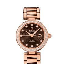 Omega DeVille Ladymatic 18K Solid Rose Gold Automatic Diamond