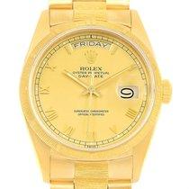 Rolex President Day-date 18k Yellow Gold Roman Dial Mens Watch...