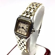 Cartier Panthere 2 Tone Ladies Watch 18k Yellow Gold &...