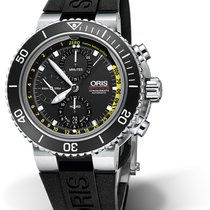 Ορίς (Oris) DIVING AQUIS DEPTH GAUGE CHRONOGRAPH Steel-Black-R...