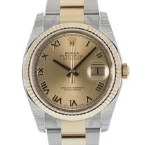 Rolex DATEJUST 36mm Steel & 18K Yellow Gold Champagne Dial