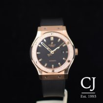 Hublot Classic Fusion Rose Gold Automatic Diamond Bezel 42mm