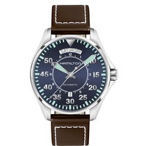 Hamilton Men's H64615545 Khaki Aviation Pilot Day Date Auto