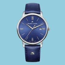 Maurice Lacroix ELIROS DATE roman blau Datum Lederband blau -NEU-