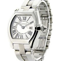 Cartier W62025V3 Mens Roadster Non Chronograph in Steel - on...