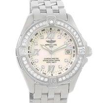 Breitling B-class Mop Diamond Dial Bezel Womens Watch A71365