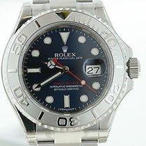 Rolex New Unworn Mens Yachtmaster Platinum Stainless Blue...